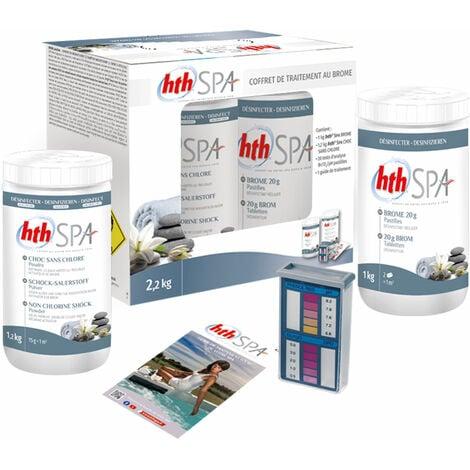 """main image of """"Kit de traitement au brome HTH pour spa gonflable 2,2kg - Blanc"""""""