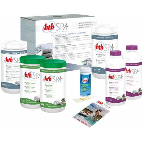 Kit de traitement au brome HTH pour spa gonflable - Blanc