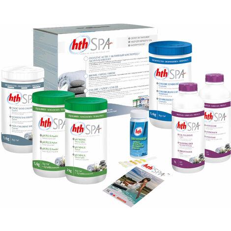 Kit de traitement au chlore HTH pour spa gonflable - Blanc