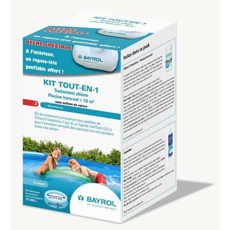 Kit de traitement au chlore tout-en-1 Bayrol pour piscines <10m3