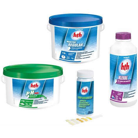 Kit de traitement complet au chlore (0-20 m³) - hth