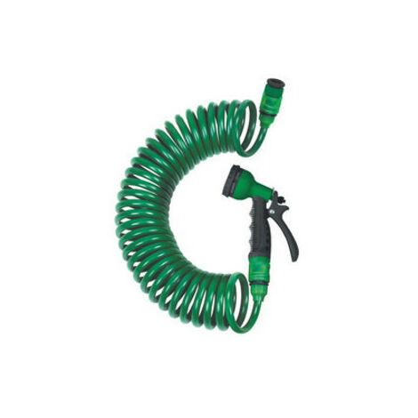 Kit de tuyau d'arrosage en spirale 15m avec pistolet 7 fonctions 92.356/15