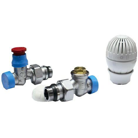 Kit de valve et lockshield Giacomini radiateur 1/2x16 droit R470AX013