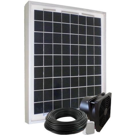 Kit de ventilation solaire 10W 12V - 160m3/h