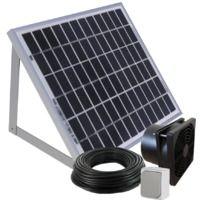 Kit de ventilation solaire 10W 160m3/h avec fixations