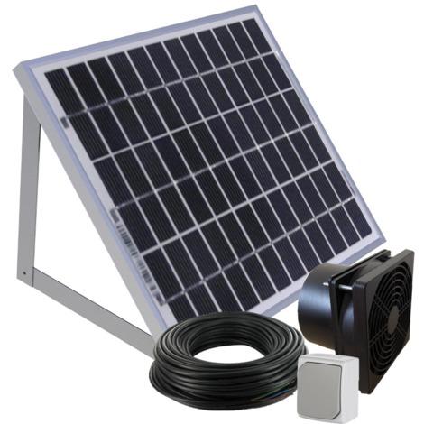 Kit de ventilation solaire 5W 100m3/h avec fixations