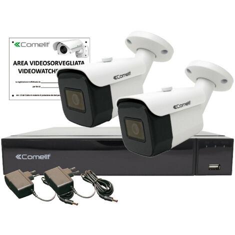 KIT de video Vigilancia Comelit AHD INTELIGENTE 2MP XVR 4-canal 2 de bala AHKIT004S02A