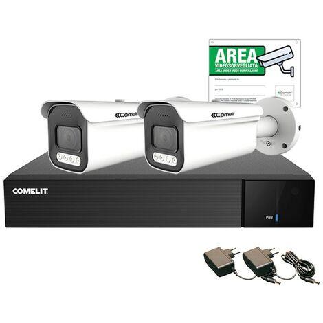 KIT de video Vigilancia Comelit AHD INTELIGENTE 2MP XVR 8 canales 2 de bala AHKIT008S02A