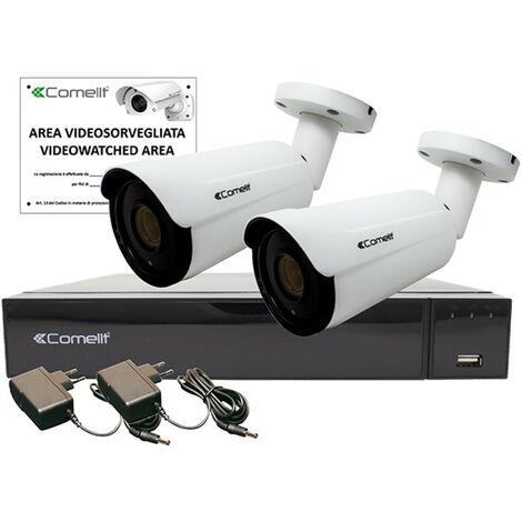 KIT de video Vigilancia Comelit AHD INTELIGENTE 4K XVR 8 canales 2 de bala AHKIT008S08A