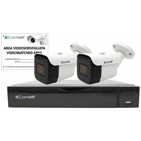 KIT de video Vigilancia Comelit IP NVR de 4 canales y 2 de Bala IPKIT004S02PA
