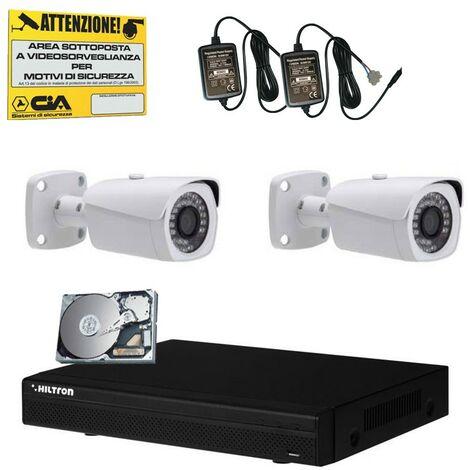 Kit de video vigilancia Hiltron DVR de la unidad de disco Duro y dos cámaras THK2810HD