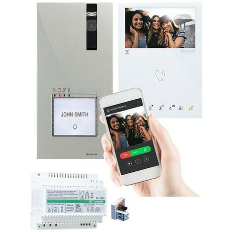 Kit de vidéophone Comelit 1appartement QUADRA MINI WIFI 2 fils 8451V