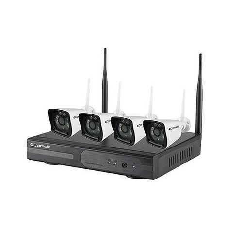 Kit de vidéoprotection WIKIT080A - 1 enregistreur vidéo Wi-Fi - 4 caméras IP Wi-Fi