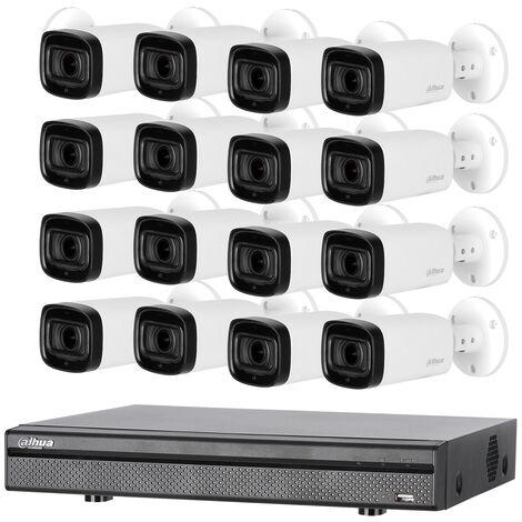 Kit de vidéosurveillance enregistreur + 16 caméras compactes 1080p DAHUA - KITEVO 16BUL1080P-002 - Noir