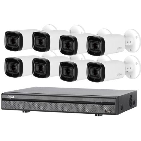 Kit de vidéosurveillance enregistreur + 8 caméras compactes - 1080p - Dahua - Noir