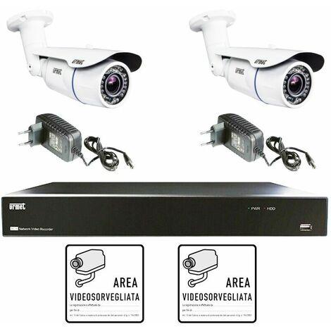 KIT de vidéosurveillance Urmet AHD 4 canaux avec 2 caméras 1097/800A