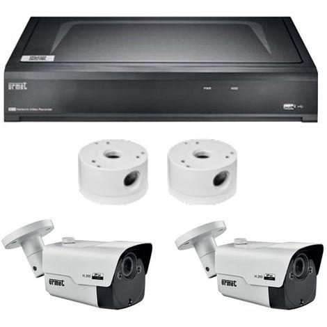 Kit de Vidéosurveillance, Urmet NVR 8 Canaux IP avec 2 appareils-photo de 5MPX 1098/828