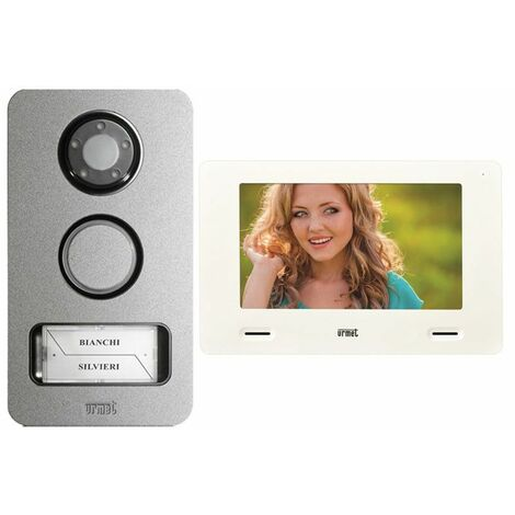 Kit de Videoteléfono Urmet Mini Nota 2-Alambre de una sola Mikra y Monitor de 7 pulgadas 1722/85
