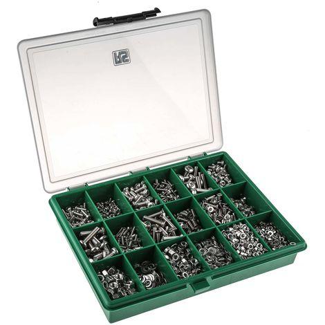 Kit de vis, écrous et rondelles en Laiton, 2447 pièces