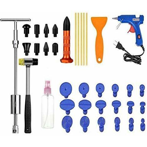 Kit Débosselage sans Peinture,Outils Paintless de Réparation Carrosserie,Réparation de Dent pour Voiture,Réfrigérateur,Moto Corps