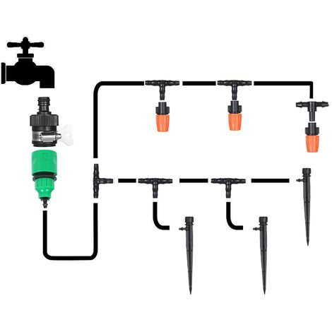 Kit D'egouttement D'Irrigation, Conduite D'Eau De 15 Metres Et 20 Goutteurs