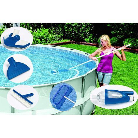 Kit d'entretien Vacuum Luxe pour piscine - Bleu