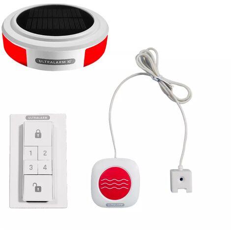 Kit détecteur d'eau - alarme 3G sirène solaire GSM autonome extérieure 100% sans-fil (ULTRALARM 3G)