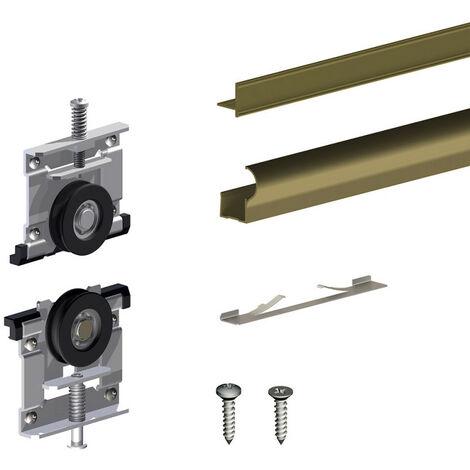 Kit d'habillage bronze pour ARES3 pour 1 porte de placard 18 mm