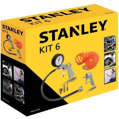 Kit di 6 Accessori per Compressore Stanley Pistola Soffiaggio Gonfiaggio