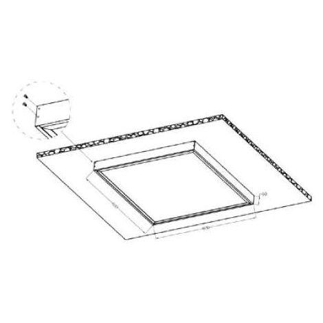 Kit d'installation pour dalle LED 1200x300 Blanc