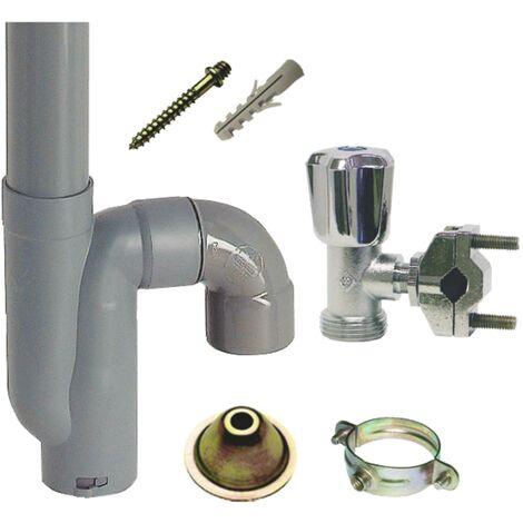 Kit d'installation pour machine à laver - Rob Autoperceur - Siphon sortie vertic