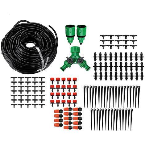 Kit d'irrigation 40m Goutte à GoutteAutomatique Micro Systèm par Pulverisation Jardin Kit d'arrosage avec Goutteur Réglable