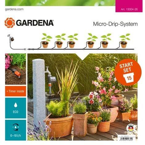 Kit d'irrigation Micro-Drip system pour 15 pots avec programmateur