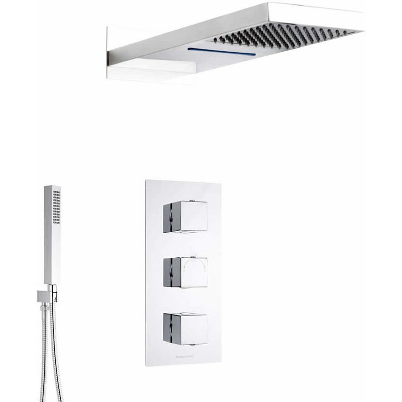 Kit doccia completo con miscelatore termostatico incasso a for Fima arredamenti