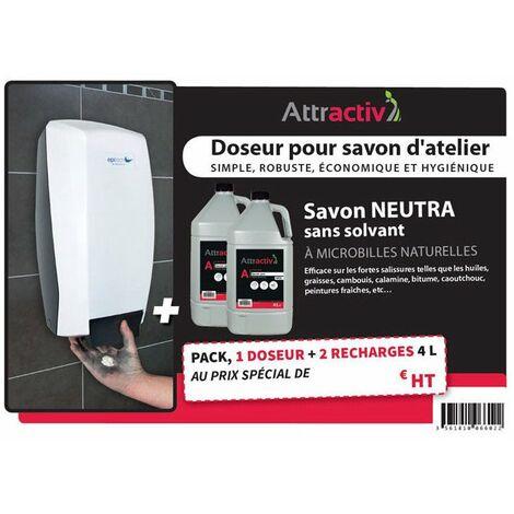 kit doseur distributeur savon + 2 recharges - remplace 0706000110