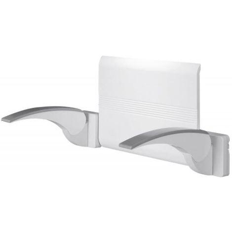 Kit dossier + accoudoirs Arsis Blanc/Chromé mat pour siège de douche