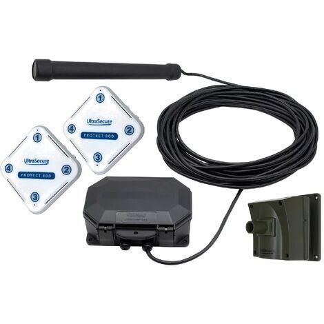 Kit double détection extérieure autonome sans-fil & 2 récepteurs-carillons - Sonde magnétique + Mouvement (PROTECT 800)