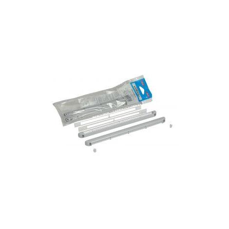 Kit double régulateur + déflecteur + cache vis + vis 30m³ NICOLL - gris clair - 1KHF130G
