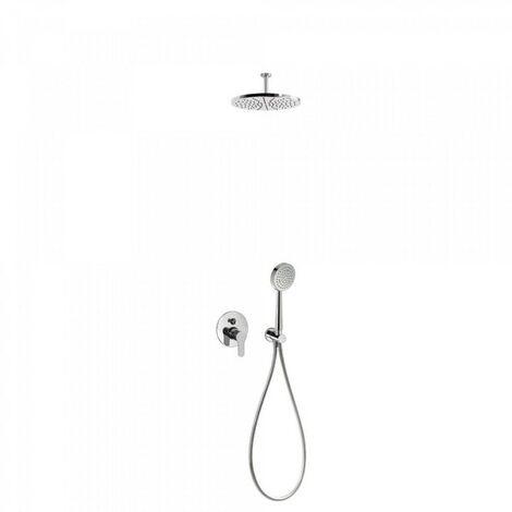 Kit douche à encastrer avec fermeture et réglage du débit Chromé BM - TRES 01718080