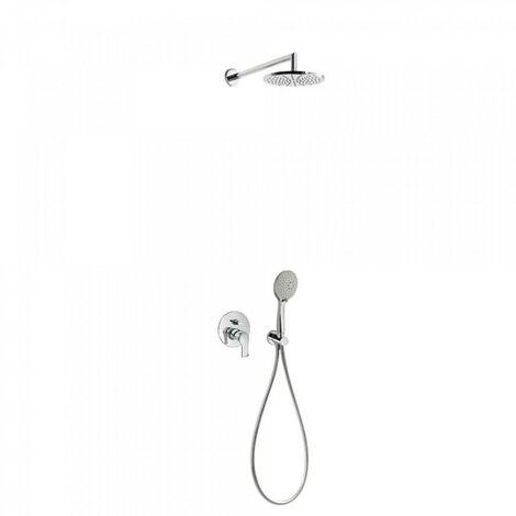 Kit douche à encastrer avec fermeture et réglage du débit - TRES 06917501