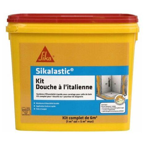 Kit douche à l'italienne SIKA Étanchéité sous carrelage - 6m² - Jaune