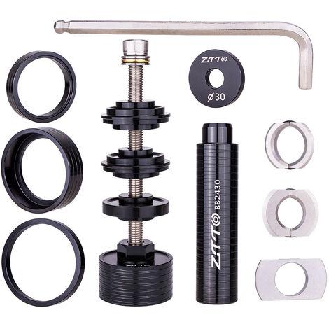 Kit d'outils d'installation et de retrait statiques de support de pedalier de type a pression de velo, outil de retrait de support de pedalier