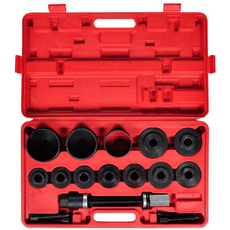 vidaXL Kit arrache extracteur de roulement intérieur marteau à inertie 9 pcs FR