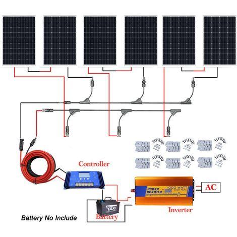 Kit du système 24V de panneau solaire 720W hors onduleur à sinus pur de la grille 3000W pour le camp d'accueil