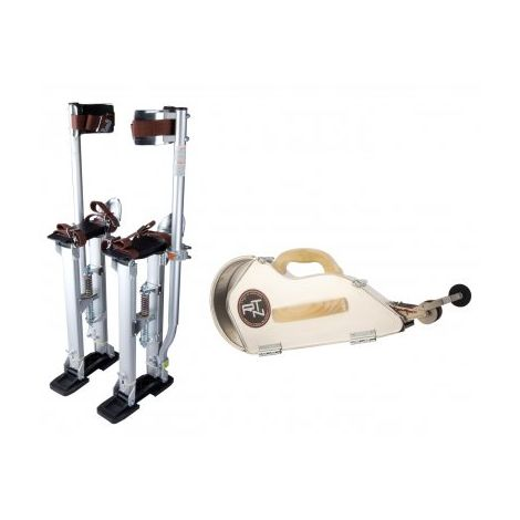 Kit échasses 60 à 101 cm + Banjo aluminium et sa roulette Banjoroll