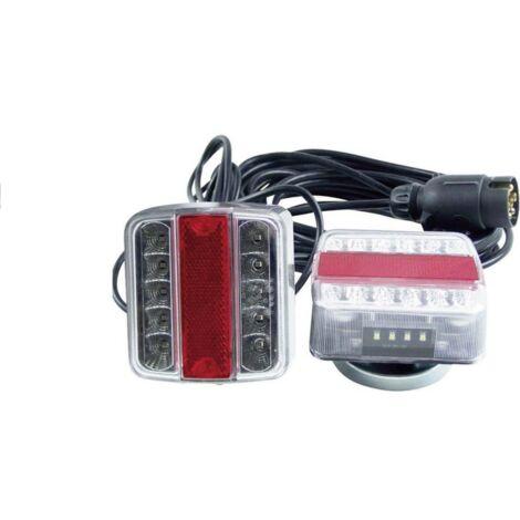 Kit éclairage magnétique remorque LED, 7,5m de câble