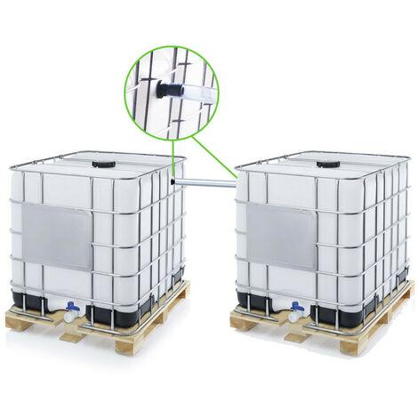 Kit ECO de couplage de 2 cuves à eau 1000 l - Ø 40 mm - Tuyau 70 cm
