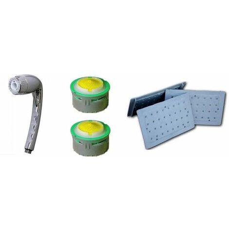 Kit économie d'eau robinet, douchette ECOGYXEN, et wc