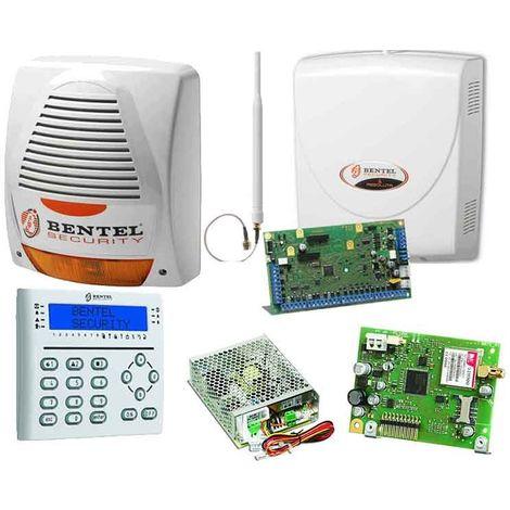 Kit, el robo de Alarma para el hogar Bentel con el centro de la Absoluta,la sirena,el módulo GSM y teclado