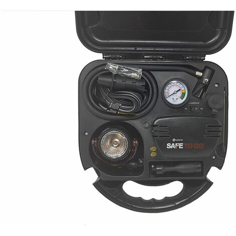 Kit emergenza compressore di aria 12v 260 psi manometro valigetta 99-165
